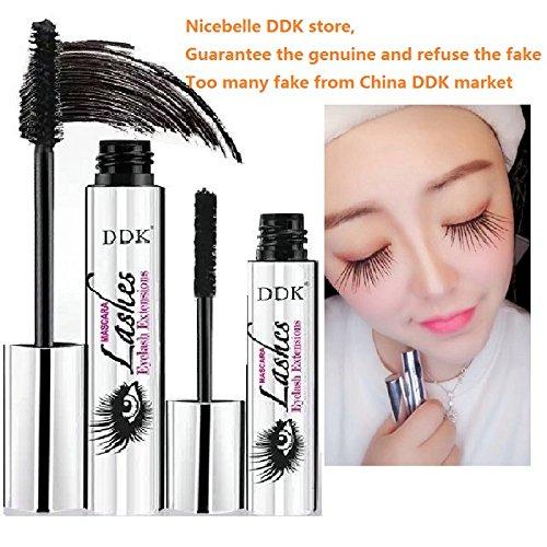 Nicebelle DDK 4D Mascara Cream, Sold by Nicebelle DDK and Fulfilled by Amazon, Makeup Lash,Cold Waterproof Mascara, Eye Black, Eyelash Extension, Crazy-Long Style, Warm Water Washable Mascara