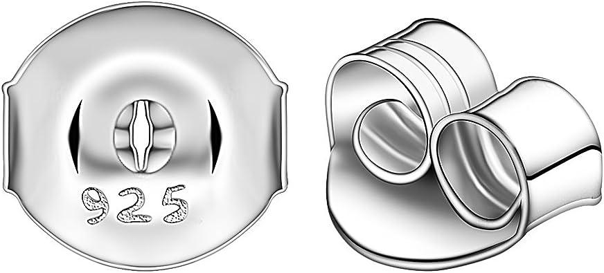 Ashley Jeweller Findings 925 Sterling Silver Ear Butterfly Back Stoppers 12 pcs For Earrings