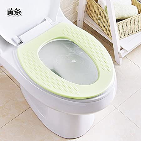 Hagyh Silica Gel Mould Proof Plastic Summer Toilet Seat Cushion