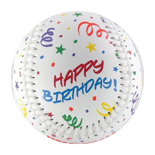 EnjoyLife Inc Happy Birthday Baseball (Rubber Core)