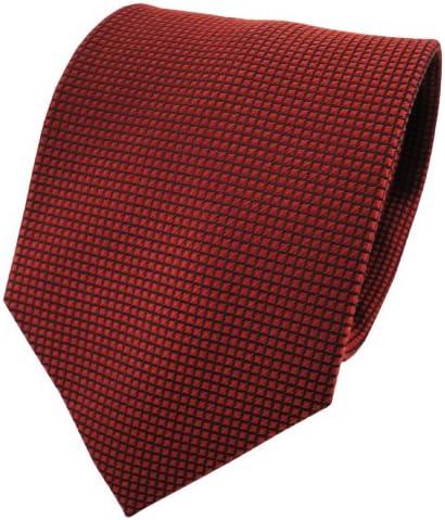 ohne Markenname XXL corbata de seda - bronce rojo-marrón negro ...