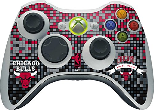 NBA Chicago Bulls Xbox 360 Wireless Controller Skin - Chicago Bulls Digi Vinyl Decal Skin For Your Xbox 360 Wireless Controller by Skinit