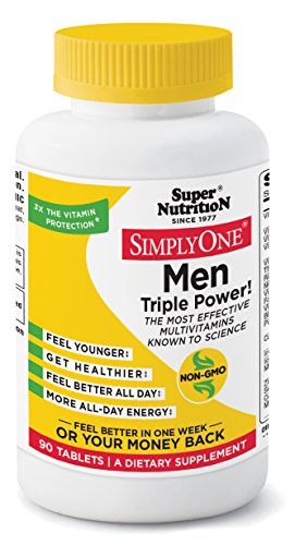 SuperNutrition, SimplyOne Multi-Vitamin for Men, High-Potency, One Day Tablets, 90 Day Supply