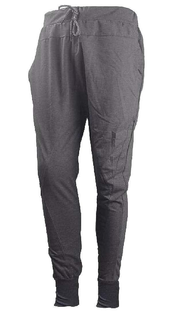 pipigo Mens Jogger Slim Drawstring Solid Casual Pants