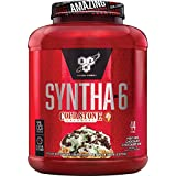 BSN Syntha-6 Whey Protein Powder Cold Stone Creamery Mint Mint Chocolate Chocolate Chip, Meal Replacement Powder, 44 Servings