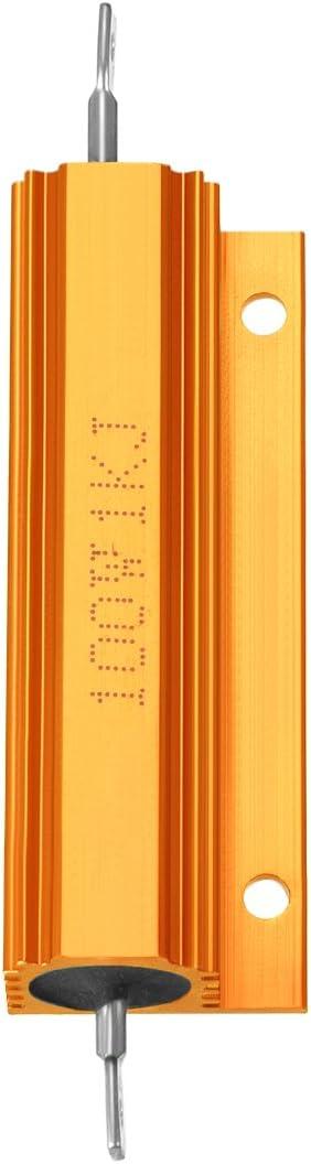 800 RJ Gr/ün f/ür LED-Ersatz-Konverter 100 W 800 Ohm Drahtgewickelt Sourcingmap Aluminiumgeh/äuse Widerstand 100 W 2 St/ück