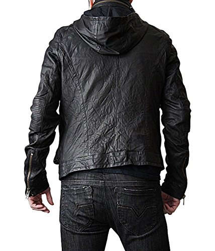 Mission Impossible Ghost Protocol Hooded Movie Jacket - Ethan Hunt MI4 Leather Jacket Christmas Gift (XS) by BlingSoul (Image #3)