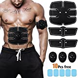 ZOCIKO Muscle Toner ABS Simulator Abdominal Toning Belt Portable Muscle Trainer Body Muscle Fitness Trainer 6 Modes & 10 levels Simple Operation for Abdomen/Arm/Leg Training Men Women