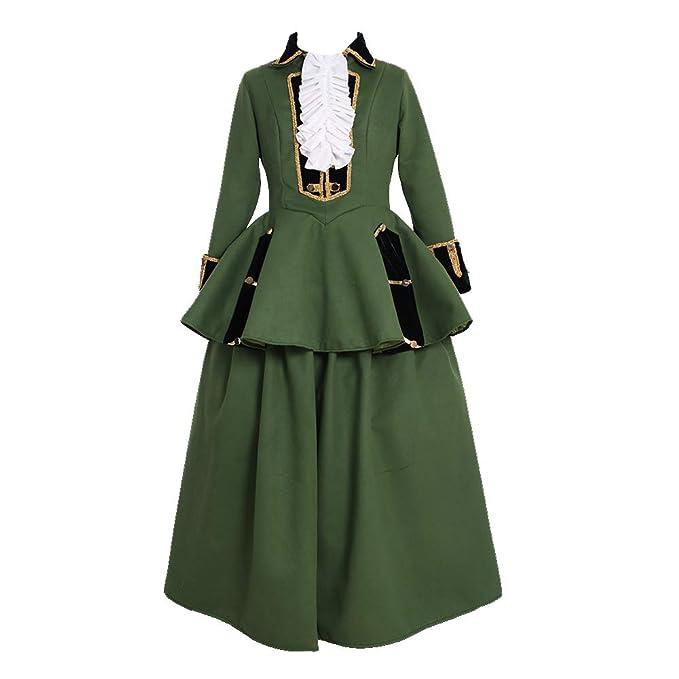 Amazon.com: Vestido barroco de estilo rococó del siglo XVIII ...