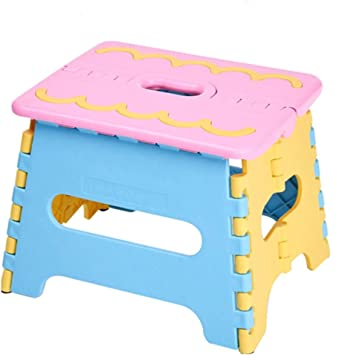 Folding Step Stool Foldable Stool For Kids Adults Kitchen Garden Bathroom Non Slip Portable Stepping Stool Color 1 Amazon Com
