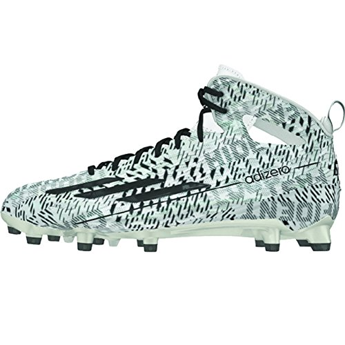 Adidas Hommes Adizero 5 Étoiles 4.0 Mi Football Crampons Blanc / Noir
