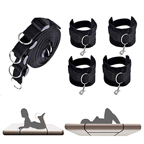 Beyond souls Arm and Leg Restraint System kit - Strap Under The Bed - Cuff Soft Durable Strength ()