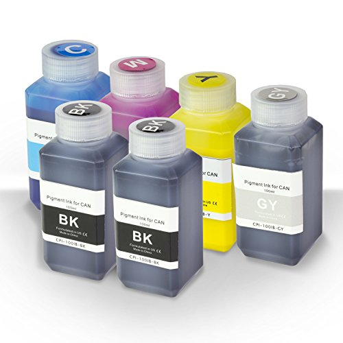 - SOJIINK 6 PK Set - 2PK Black + 1PK (Cyan Magenta Yellow Gray) Pigment Refill Ink Bottle 100ML (3.38 fl oz) Bottle + Refill Tool Kit