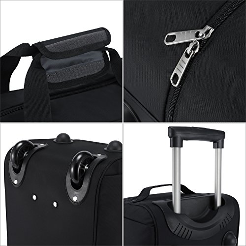 2ccb999a804b ... HiPack Multi-use Rolling Trolley Overnight Bag-TSA Approved Carryon  (Black) online  Rolling Duffel Bag