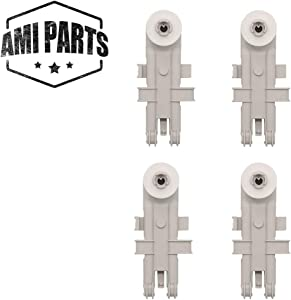 8268743 Upper Rack Wheel Replacement Part by AMI , Perfect fit for Whirlpool & Kenmore Dishwashers, Can be used in place of WP8268743 AP6012252 WP8268743VP (4pcs)