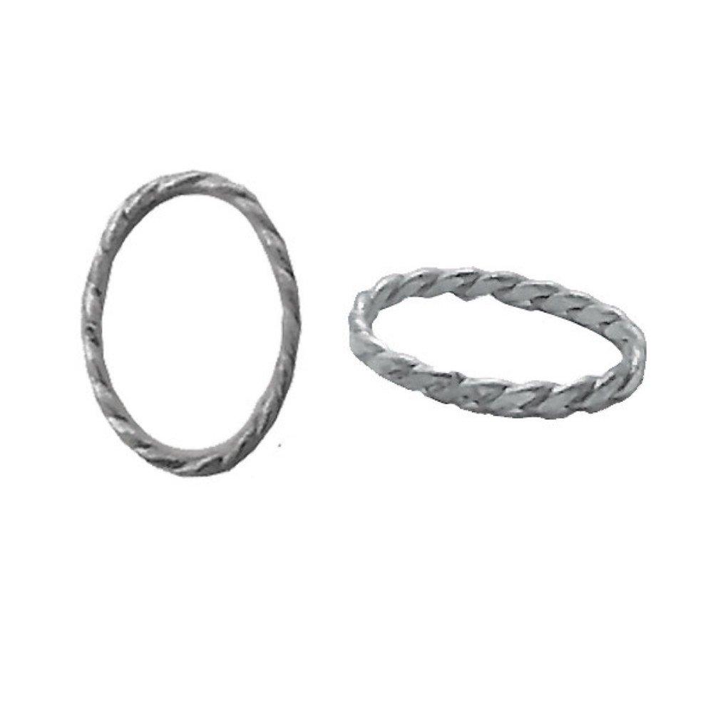 [平戸]HIRATO SV925/AG925シルバー 伝統工芸 平戸細工/フィリグリー 楕円オーバルリングパーツ 4.5x3.5mm 100個  B076NT762T