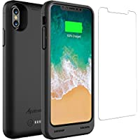 iPhone X Battery Case Qi Wireless Charging Compatible,...