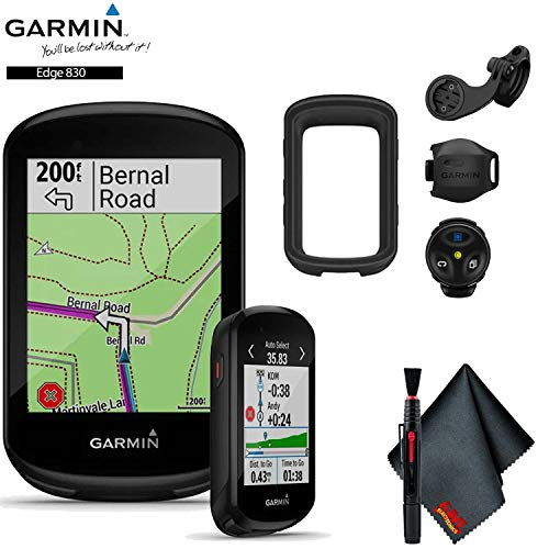 Garmin Edge 830 GPS Cycling Computer (Mountain Bike Bundle) Base Accessory Kit