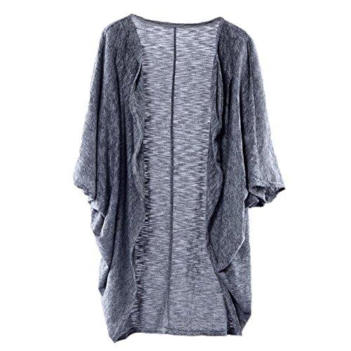 Ularma Damen Lässig Stricken Langarm Baumwolle Schal Kimono Cardigan Pullover vertuschen Bluse Mantel