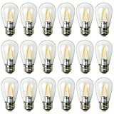 Newhouse Lighting S14LED18 Outdoor Weatherproof 2W S14 LED Replacement String Light Bulbs with Standard Base (18 Pack), Clear