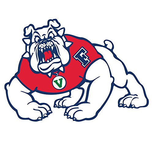 "NCAA Fresno State Bulldogs 4"" Tall Primary Mascot Vinyl Transfer Paper, Team Color, One Size"