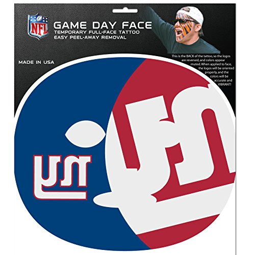 (NFL New York Giants Game Day Face Decal)
