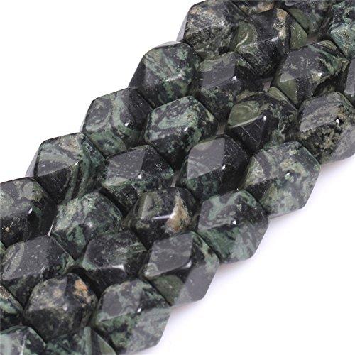 Joe Foreman Kambaba Jasper Beads for Jewelry Making Natural Semi Precious Gemstone Facete Cube 9x11mm Strand (Jasper 6mm Cube Gemstone Beads)