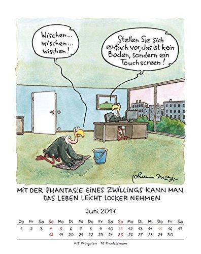 Zwillinge 2017 Sternzeichen Cartoonkalender Kalender Wandkalender