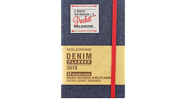 Moleskine Demin 2019 Weekly Notebook Diary/Planner: Amazon ...