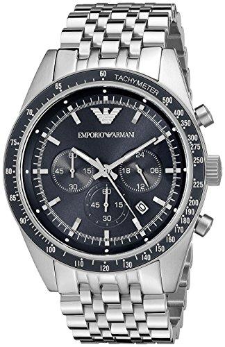 Sportivo Mens Stainless Steel Watch - Emporio Armani Men's AR6072 Sport Silver Watch