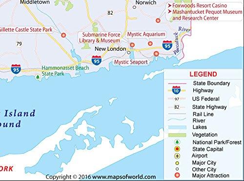 Amazon.com : Connecticut Map (36\