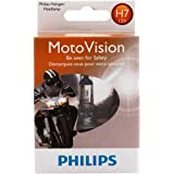 Philips H7 MotoVision Motorcycle and Powersport Replacement Headlight Bulb, 1 Pack