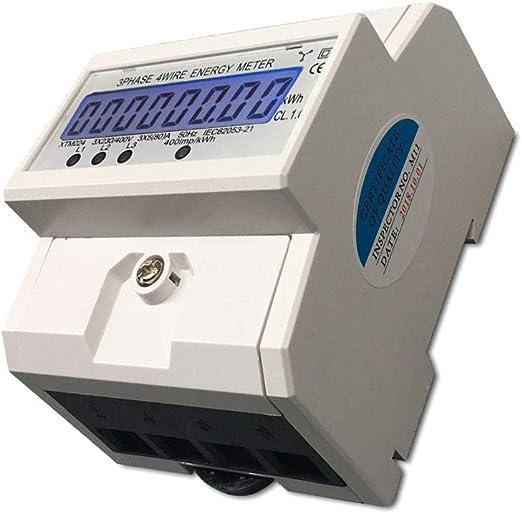 A für DIN Hutschiene DE 2019 LCD Elektrozähler Wechselstromzähler Wattmeter 5 80