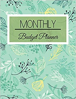 monthly budget planner green leaves floral design budget planner