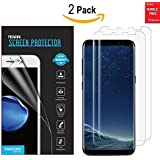 Galaxy S8 Screen Protector [2 Pack][Full Coverage Not Glass], Amazingforless Samsung Galaxy S8 Bubble-Free [Case-Friendly] Screen Protector for Galaxy S8