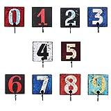 B Blesiya Pack 10 Wall-Mounted Number Hooks Hat Hanger Home Organization