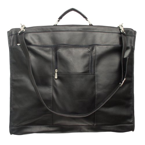 Piel Leather Elite Garment Bag, Black, One Size by Piel Leather