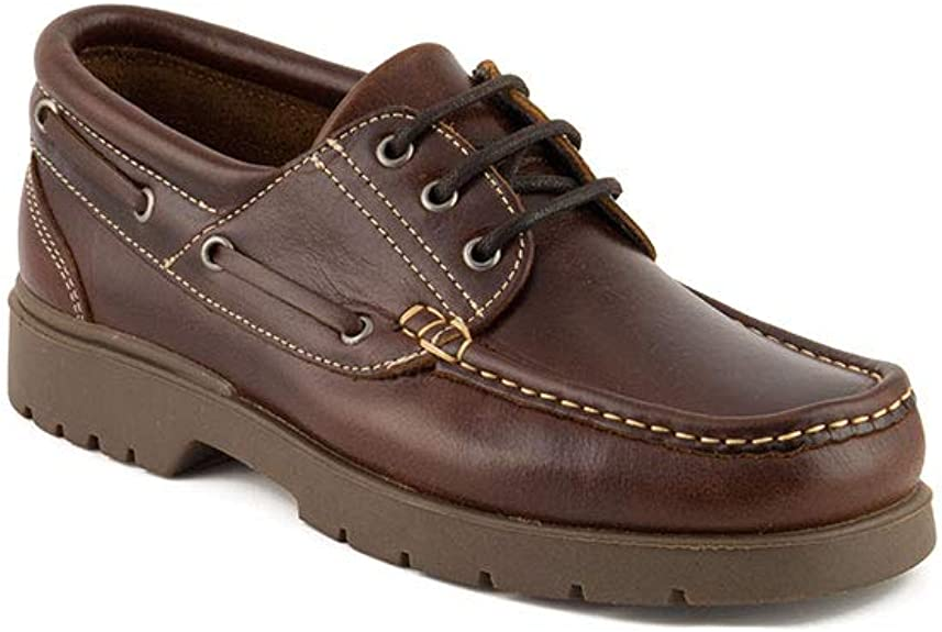 Cuir /à Lacets Chaussures Bateau Homme