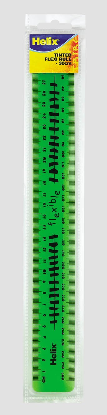 2xTiger 30cm Flexible Ruler Assorted Colours x 1 Single Rule