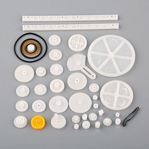VERY100 Plastic Shaft Rack Reduction Worm Gears Belt Pulley DIY for Robot 34 Kinds
