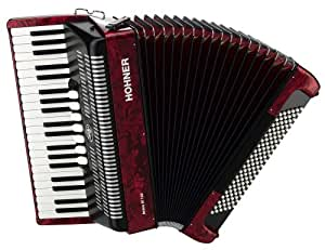 Hohner Bravo Piano Accordion, 120 Bass, Red