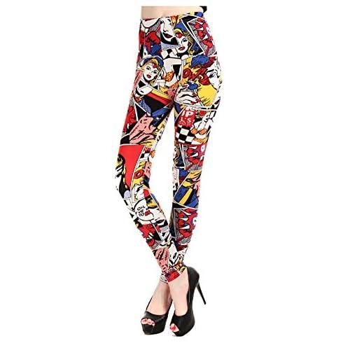 4c49694cd4b34 hot sale Edtoy Women Comic Leggings Cartoon Printed Leggings high Stretch  Girls Leggingg Punk Rock Legging
