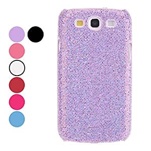 Glitter Pattern Hard Case for Samsung Galaxy S3 I9300 (Assorted Colors) , Black