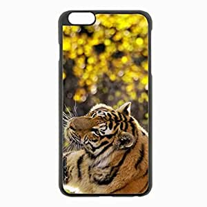 iPhone 6 Plus Black Hardshell Case 5.5inch - tiger muzzle flares big cat Desin Images Protector Back Cover