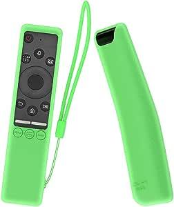 MOSHOU Ajustado Adapta Mando Funda de Silicona Compatible con Samsung UHD 4K Smart TV Bluetooth Remote Control RMCSPR1BP1 / BN59-01312A Anti-caída Carcasa a Prueba de Golpes Cubierta (Luminoso Verde): Amazon.es: Electrónica