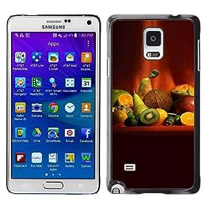 Be Good Phone Accessory // Dura Cáscara cubierta Protectora Caso Carcasa Funda de Protección para Samsung Galaxy Note 4 SM-N910 // Fruit Macro Fruit Art