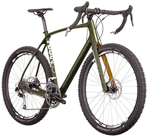 Diamondback Bicycles Haanjo EXP Carbon Alternative Road Bike, 50cm/Small, Dark Olive