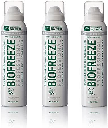 Biofreeze Professional 360 Degree Spray, 4 fl. oz., 3 Pack