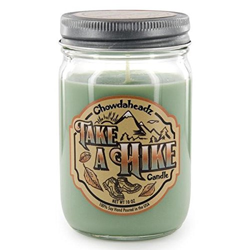All Natural 100% Soy Take A Hike Candle made our list of Gifts For Active Women, Gifts For Women Who Hike, Gifts For Women Who Fish, Gifts For Women Who Camp