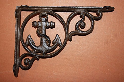 Shelf Bracket RUSTIC 6 Cast Iron Antique Style CROSS Bracket